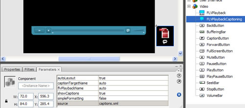 FLVPlaybackCaptioning component